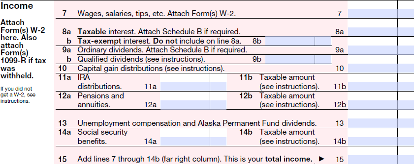 1040a-income_2014  Ez Form Written Example on difference between 1040, georgia tax, completed example, print out, how do you fill out, how fill, filled out example, tax table 2019, line 5 worksheet,