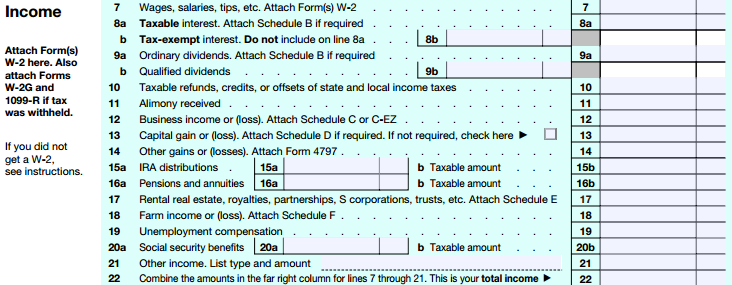 TaxHow 1040 Step by Step Guide – 1040 Worksheet