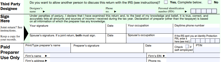 1040ez-sign_2017  Ez Form Written Example on difference between 1040, georgia tax, completed example, print out, how do you fill out, how fill, filled out example, tax table 2019, line 5 worksheet,