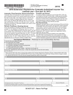 Colorado Form 158-I