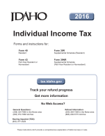 Idaho Tax Booklet