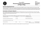 Massachusetts Form EFO