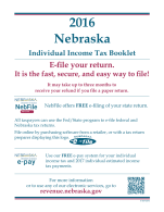 Nebraska Tax Booklet