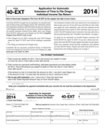TaxHow » Tax Forms » Oregon Form 40-EXT