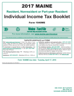 Maine Tax Booklet
