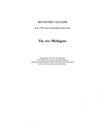 Michigan Taxable Income
