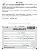 Maine Form 1040EXT-ME