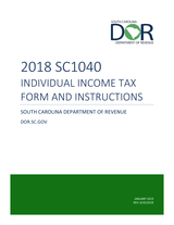 SC Form SC 1040 Tax Book