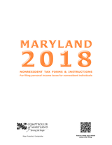 Maryland Nonresident Tax Booklet